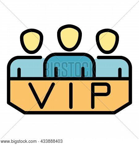 Vip Lodge Icon. Outline Vip Lodge Vector Icon Color Flat Isolated