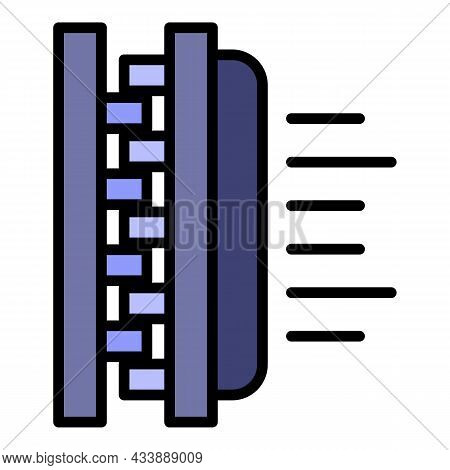 Soft Textile Icon. Outline Soft Textile Vector Icon Color Flat Isolated
