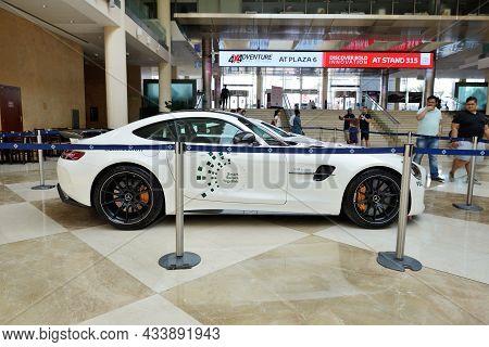 Dubai, Uae - November 18: The Mercedes Benz Gt R Coupe Of Dubai Police Car Is On Dubai Motor Show 20