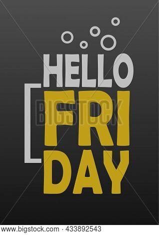 Hello Friday Poster Flyer Social Media Post Template Design