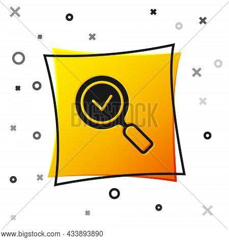Black Magnifying Glass With Check Mark Icon Isolated On White Background. Search, Focus, Zoom, Busin
