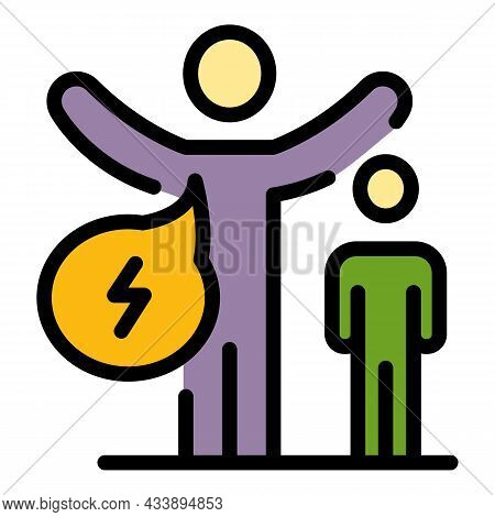 Stop Kid Violence Icon. Outline Stop Kid Violence Vector Icon Color Flat Isolated