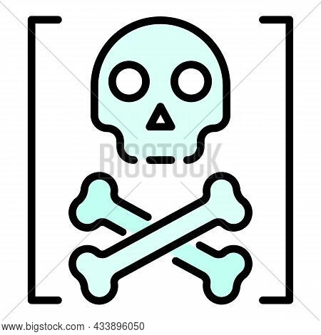 Death Hacker Attack Icon. Outline Death Hacker Attack Vector Icon Color Flat Isolated