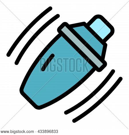 Bar Shaker Icon. Outline Bar Shaker Vector Icon Color Flat Isolated