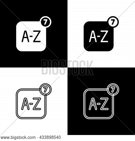 Set Online Translator Icon Isolated On Black And White Background. Foreign Language Conversation Ico