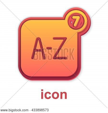 Gold Online Translator Icon Isolated On White Background. Foreign Language Conversation Icons In Cha