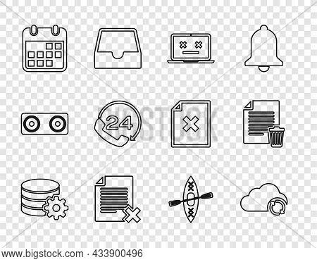 Set Line Setting Database Server, Cloud Sync Refresh, Dead Laptop, Delete File Document, Calendar, T