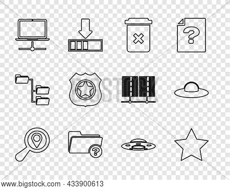Set Line Search Location, Star, Trash Can, Unknown Directory, Computer Network, Police Badge, Ufo Fl
