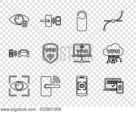 Set Line Eye Scan, Two Steps Authentication, Please Do Not Disturb, Digital Door Lock With Wireless,