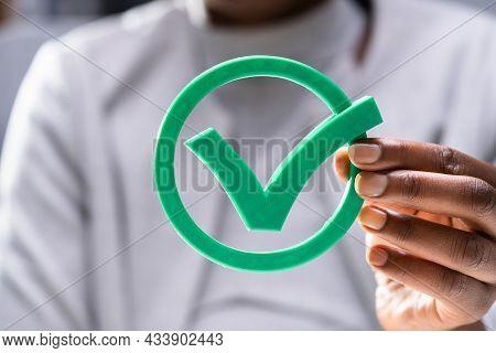 Appropriate Legitimate Green Check Mark And Tick