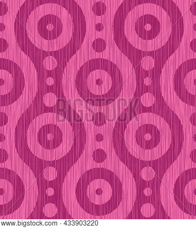Vintage Background. Vector Seamless Pattern With Abstract Shapes. Retro Background.