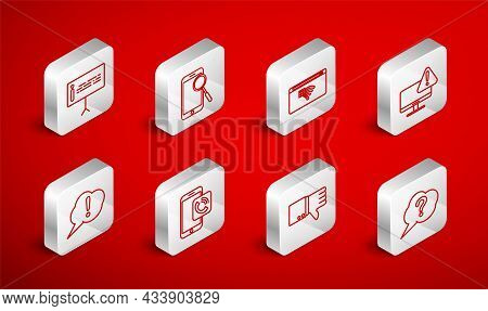 Set Line Speech Bubble Question, Mobile Phone Diagnostics, No Internet Connection, Monitor With Excl