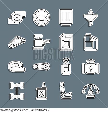 Set Line Speedometer, Check Engine, Canister For Motor Oil, Car Air Filter, Pump, Timing Belt Kit, A