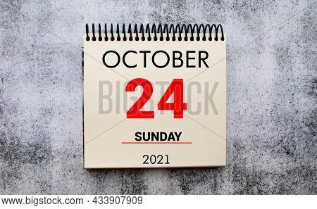 Save The Date Written On A Calendar - October 24