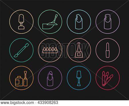 Set Line False Nails, Nail File, Broken, Cuticle Pusher, Milling Cutter For Manicure, Bottle Of Poli