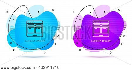 Line Online Translator Icon Isolated On White Background. Foreign Language Conversation Icons In Cha