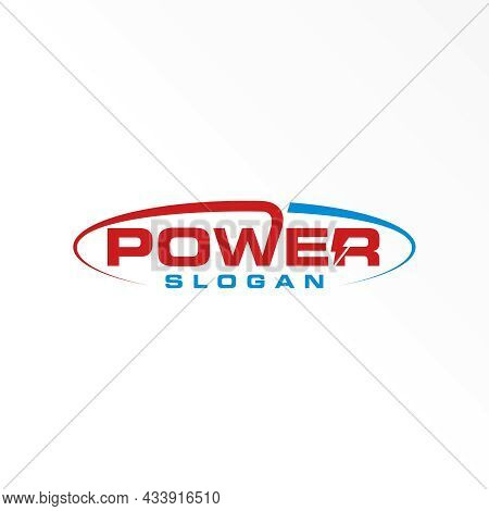 Letter Power Free Logo Vector Stock. Ellipse Abstract Design Concept. Can Be Used As A Symbol Relate