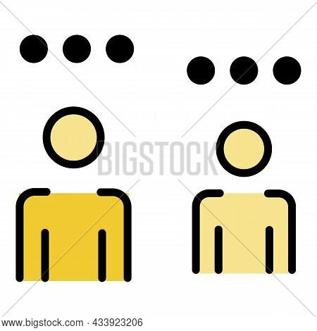 Points Overhead In People Icon. Outline Points Overhead In People Vector Icon Color Flat Isolated