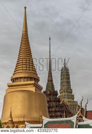 Bangkok, Thailand - Jun 19, 2020 : Wat Phra Kaew - The Temple Of Emerald Buddha. Is The Most Sacred
