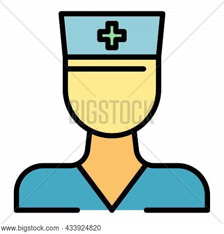 Medical Expert Icon. Outline Medical Expert Vector Icon Color Flat Isolated