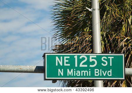 Street Sign For The Ne 125 St