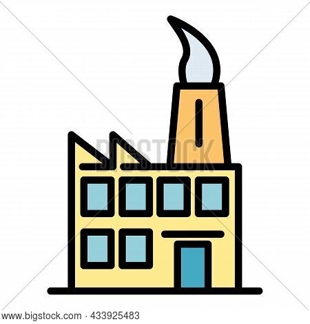 Mini Factory Icon. Outline Mini Factory Vector Icon Color Flat Isolated