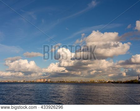 View Of The Seaport Of Sfnkt-peterburg, Russia