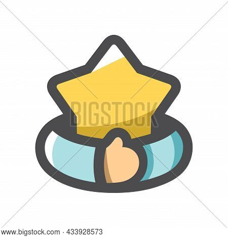 Greed For Glory Hands With Star Vector Icon Cartoon Illustration