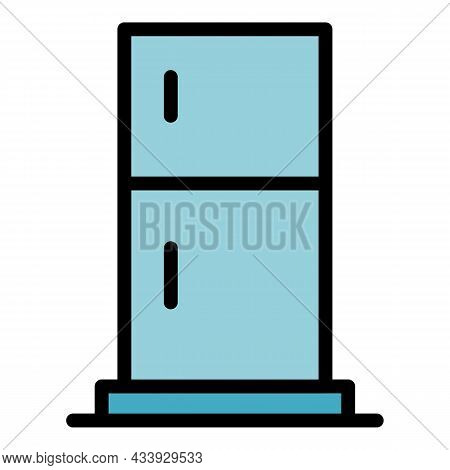 Standard Refrigerator Icon. Outline Standard Refrigerator Vector Icon Color Flat Isolated