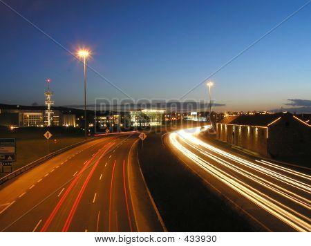 Technology Park Highway At Dusk