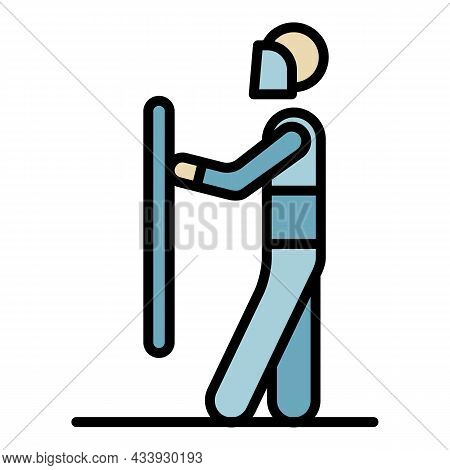 Police Protest Election Icon. Outline Police Protest Election Vector Icon Color Flat Isolated