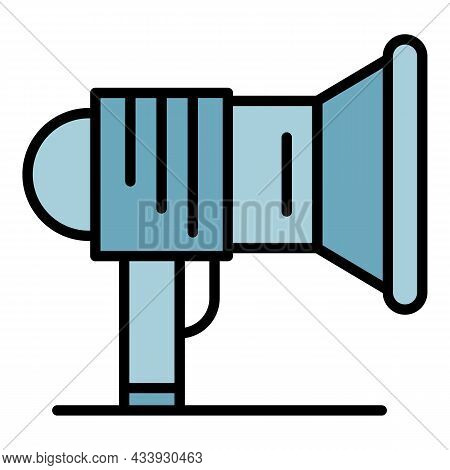 Megaphone Icon. Outline Megaphone Vector Icon Color Flat Isolated