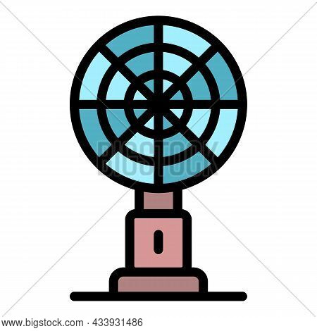 Large Table Fan Icon. Outline Large Table Fan Vector Icon Color Flat Isolated