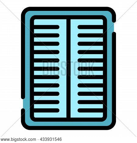 Air Conditioning Grill Icon. Outline Air Conditioning Grill Vector Icon Color Flat Isolated