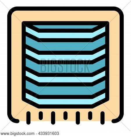 Ventilation Grill Icon. Outline Ventilation Grill Vector Icon Color Flat Isolated