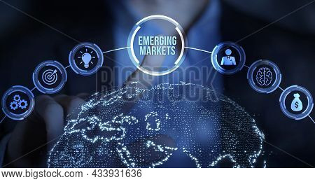 Internet, Business, Technology And Network Concept. Emerging Markets