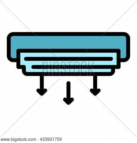 Air Conditioning Unit Icon. Outline Air Conditioning Unit Vector Icon Color Flat Isolated