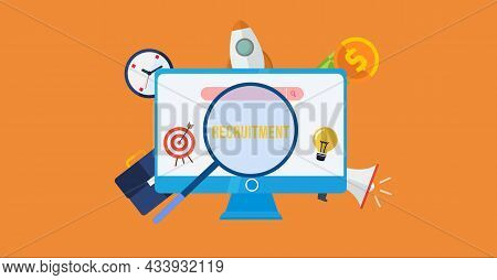Internet, Business, Technology And Network Concept.recruitment Career Employee Interview Business Hr