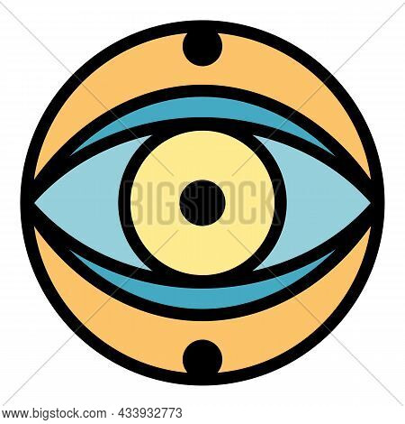 Mystery Eye Icon. Outline Mystery Eye Vector Icon Color Flat Isolated