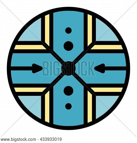 Alchemy Cross Icon. Outline Alchemy Cross Vector Icon Color Flat Isolated