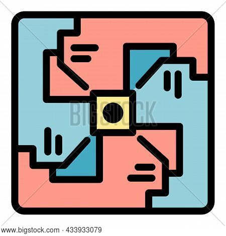 Spiral Alchemy Icon. Outline Spiral Alchemy Vector Icon Color Flat Isolated