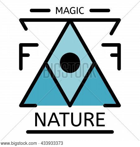 Magic Nature Alchemy Icon. Outline Magic Nature Alchemy Vector Icon Color Flat Isolated