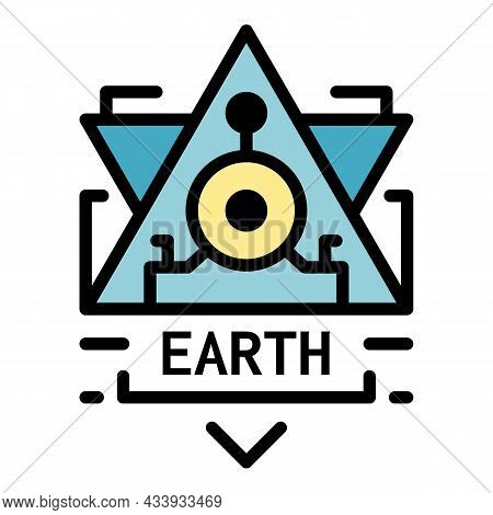 Earth Alchemy Icon. Outline Earth Alchemy Vector Icon Color Flat Isolated