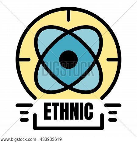 Ethnic Alchemy Icon. Outline Ethnic Alchemy Vector Icon Color Flat Isolated