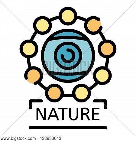 Alchemy Nature Icon. Outline Alchemy Nature Vector Icon Color Flat Isolated
