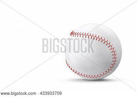 Softball Or Baseball Ball Isolated On White Background.