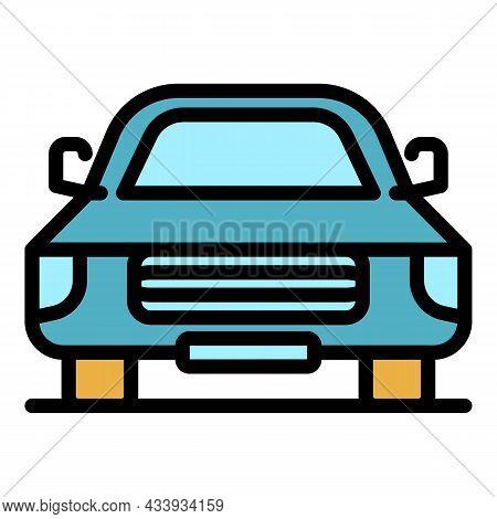 Retro Car Icon. Outline Retro Car Vector Icon Color Flat Isolated