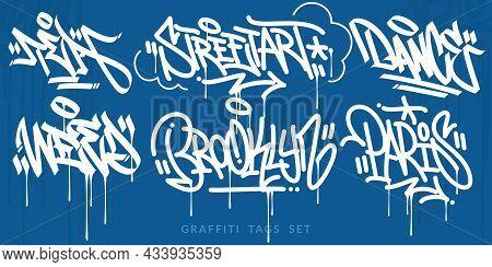 Flat Abstract Handwritten Hip Hop Urban Street Art Graffiti Style