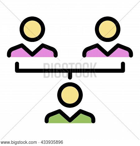 Influence Teamwork Icon. Outline Influence Teamwork Vector Icon Color Flat Isolated