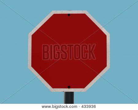 Blank Sign - Octagonal